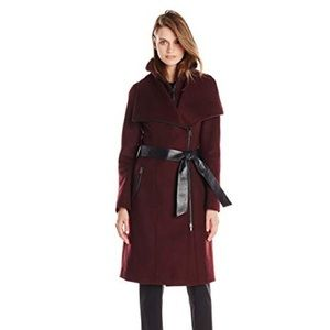 Mackage Nori wool belted coat - Bordeaux color